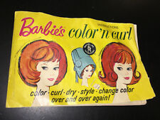 Vintage Barbie Doll Color N Curl playset original booklet instructions book 1960