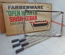 Vtg Farberware Shish Kabob Accessory w Box #456 Fits Open Hearth #455