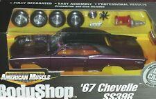 ERTL 1967 CHEVY CHEVELLE SS396 PURPLE BODY SHOP ASSEMBLY MODEL KIT 1/18 NIB