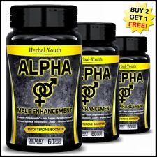 ALPHA MALE BIGGER PENIS Thicker Longer Harder Stronger GIRTH Enhancement Pills