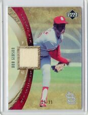 2005 MLB ARTIFACTS CARD NO.MLB-BG BOB GIBSON JERSEY #25/99, ST LOUIS CARDINALS