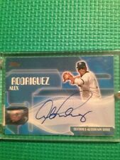 2004 Topps Alex Rodriguez Auto! On Card! Rare! First Auto As A Yankee!