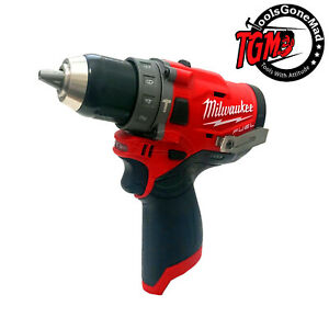 Milwaukee 12V Li-Ion Fuel Brushless 13mm Hammer Drill Driver Skin M12FPD-0