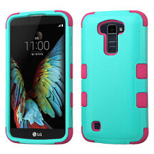 For LG K10 IMPACT TUFF HYBRID Protector Case Skin Phone Cover Accessory
