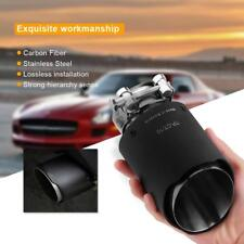 Universal 63mm Exhaust Muffler Tip Pipe Real Carbon Fiber Steel End Glossy Matte