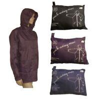 Ladies Fold Away Showerproof Rain Jacket / Mac In Bag