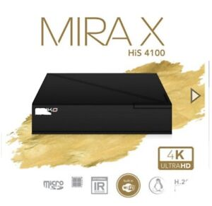 Amiko MIRA X HiS-4100 Fast Linux  4K OTT  media Streamer Full HD H.265 Plug Play