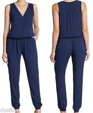 7c6c8f3e8578 NWT  288 Joie Corrine V neck Sleeveless Jumpsuit in Dark Blue Size L