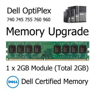2GB DDR2 Memory Upgrade for Dell OptiPlex 740 745 755 760 PC2-6400U 800MHz RAM