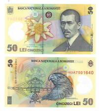 ROMANIA 50 Lei POLYMER Banknote (2005/2016) P-120f UNC Paper Money