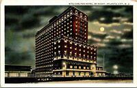 Atlantic City NJ Ritz-Carlton Hotel Night Postcard unused (17570)
