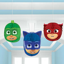 PJ Masks Honeycomb Balls Hanging Decorations Birthday Party Supplies Favors ~3ct
