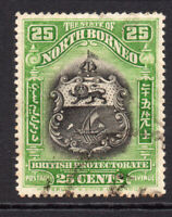 North Borneo 25 Cent Stamp c1911 Used (8379)