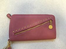 Jessica Simpson Dusty Rose Zelly Zip Around Wallet 10th Anniversary Edition NWT