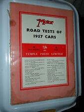 BERKELEY LAGONDA BMW ISETTA SIMCA ELYSEE BENTLEY DS19 DAIMLER MOTOR TESTS 1957