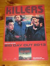 THE KILLERS - Australia 2013 -  BATTLE BORN - Laminated Promo Tour Poster
