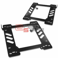 FITS 97-06 JEEP WRANGLER TJ SUV PAIR OF RACING SEAT BASE MOUNT BRACKETS ADAPTER