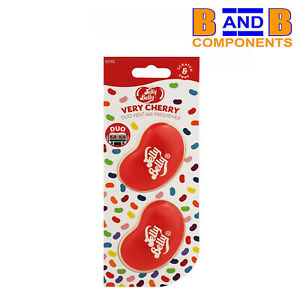 Jelly Belly Very Cherry Duo Vent Two Pack VERY CHERRY 3D Car Air Freshener A1567