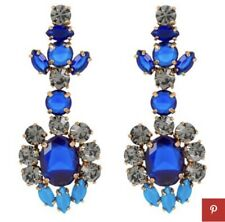 J.Crew Factory Blue CRYSTAL  DROP EARRINGS! Sold Out! Blue Crystal