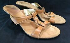 afa7c6406 COLE HAAN Women s Sandals Slides Strappy Size 10 M Tan Leather Open Toe 3