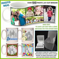 Personalised Photo Mug - Add text - 100+ Layouts, Gift Idea, Ceramic Coffee, Tea