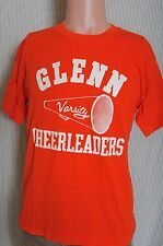 Vintage '80s Glenn HS Varsity Cheerleading soft orange t shirt M