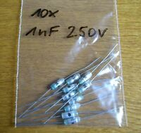 10  Kondensatoren  1 nF 250 V axial