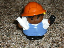 Fisher Price Little People Hispanic Construction Boy Papers Radio