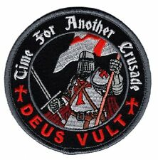 Deus Vult Time for Another Crusade Templar Knight in God Wills IRON ON Patch MTU