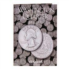 H E HARRIS #2691 Coin Folder Washington Quarter #4 Folder 1988-1998