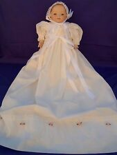 "Lovely Reproduction Grace S Putnam 22"" Baby Doll Bisque Head & Hands Christening"