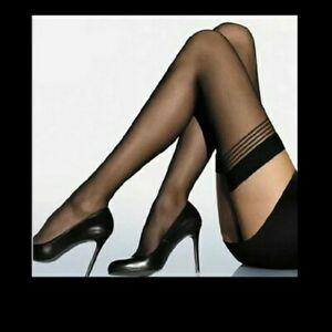 SHEER black women Sexy Lingerie   Mesh High Thigh Stockings Pantyhose christmas