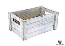 Holzkiste im vintage - used - look - weiß - Größe M - Deko - Kiste - Stiege