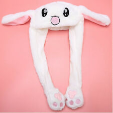 Funny Plush Animal Rabbit Ear Hat Bunny Cap Airbag Jumping Ear Movable Gift DS