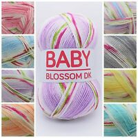 Hayfield Baby Blossom DK Soft Variegated Acrylic Knitting Crochet Yarn 100g