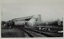 PHOTO  Lot of  5 - Railroad Train Wreck - Attica NY 1949   Erie RR
