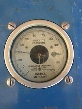 "Wallace & Tiernan Absolute Pressure Gauge  0-120"" Mercury FA160 Burton Test 2063"