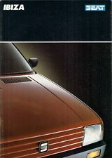 Seat Ibiza 1989-90 UK Market Sales Brochure SXi GLX XL Special 1.5 1.2 900