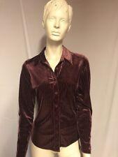The Trader Jeans Company Womens Blouse, Velvet Feel Purple, Uk10, TCS