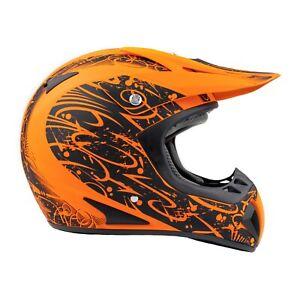 Matte Orange Typhoon Adult Dirt Bike Helmet ATV Off Road ORV Motocross Helmet