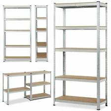 More details for galvanised 5 tier heavy duty racking metal shelving boltless storage in 2 sizes
