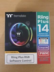 Thermaltake Riing Plus TT Premium 140mm RGB Lüfter/Fan mit Controller