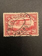 1912 - 1913 US Stamps Scott # Q8 Biplane / Airplane 20 Cent Used PARCEL POST Red