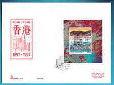 SAN MARINO 1997 HONG KONG FOGLIETTO FDC BUSTONE CAPITOLIUM ANNULLO SPECIALE
