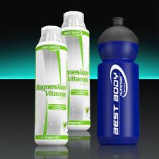 (19,98€/Ltr.) Best Body Nutrition Magnesium Liquid vegan 2 x 500ml + Sportbottle