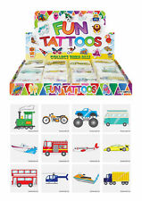 72 Transport Temporary Tattoos - Pinata Toy Loot/Party Bag Fillers Wedding/Kids