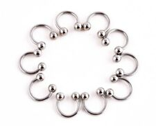 Earrings Surgical Stainless Steel Set Ball Hoop Pierce Fashion Style Gift 10 mm
