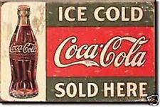 Coca Cola Sold Here 1916 Stahl Kühlschrank-Magnet (DE)