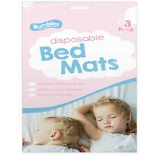3Pk Disposable Bed Mats,Baby Kids Blanket(90x60)cm Super Absorbent Keep Bed Dry