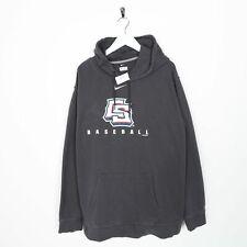 Vintage NIKE USA Baseball Big Logo Hoodie Sweatshirt Grey 2XL